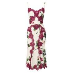 Платья Dolce & Gabbana Платье из смеси шелка и хлопка Dolce & Gabbana