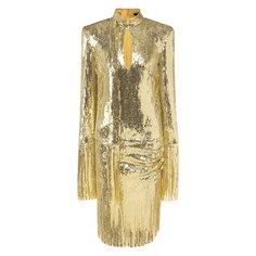 Платье с пайетками Balmain