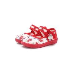 Туфли Monnalisa Текстильные туфли с застежкой велькро Monnalisa