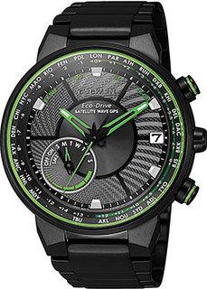 Японские наручные мужские часы Citizen CC3075-80E. Коллекция Satellite Wave