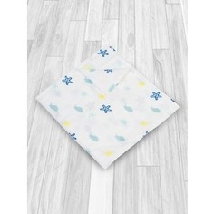 Муслиновая пеленка AmaroBaby Rainbow Море 125х115