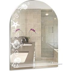 Зеркало Mixline Мадейра 49,5х67 с пескоструйным рисунком (4620001986217)