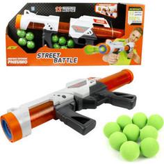 Игрушечное оружие 1Toy Street Battle с мягкими шариками 10 шариков Т13653