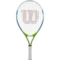 Ракетка для большого тенниса Wilson US OPEN 23, WRT20320U, для 7-8 лет, бело-сине-зеленый