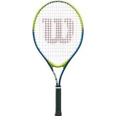 Ракетка для большого тенниса Wilson SLAM 25, WRT20400U, для 7-8 лет, салатово-синяя