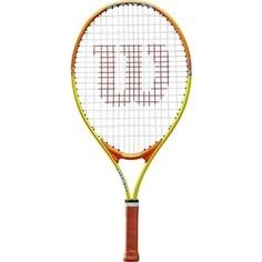 Ракетка для большого тенниса Wilson SLAM 23, WRT20390U, для 7-8 лет, желто-оранжевая