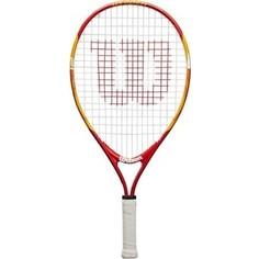 Ракетка для большого тенниса Wilson US OPEN 21, WRT20310U, для 5-6 лет, оранжево-красный