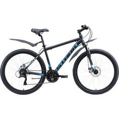 Велосипед Stark 20 Indy 26.1 D Microshift чёрный/голубой/белый 20