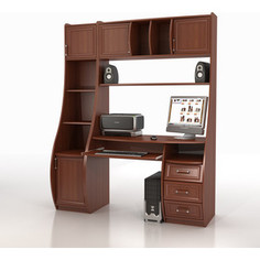 Стол компьютерный ТД Ная Прямой КС-1К Беркут+СФ-403 яблоня локарно