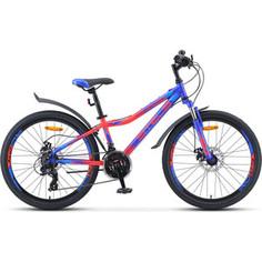 Велосипед Stels Navigator-410 MD 24 21-sp (V010) 13 синий/неоновый_красный