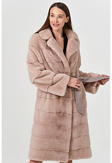 Норковая шуба с поясом Empire of Fur