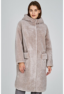 Шуба из овчины с капюшоном Virtuale Fur Collection