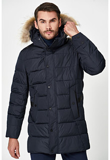 Утепленная куртка с отделкой мехом енота Jorg Weber