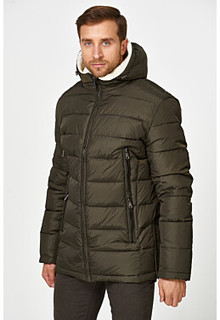 Утепленная куртка с отделкой меховой тканью Urban Fashion for men