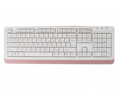 Клавиатура A4Tech Fstyler FK10 White-Pink