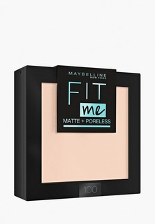 Пудра Maybelline New York Fit Me, матирующая, скрывающая поры, оттенок 100, фарфоровый, 9 г
