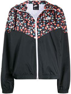 Nike спортивнаяя куртка с цветочным принтом