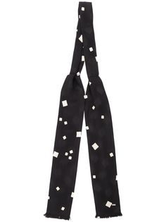 Saint Laurent галстук-бабочка с принтом