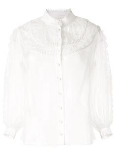 Zimmermann блузка Super Eight с кружевом