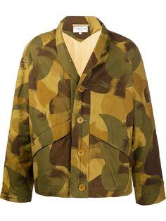 YMC куртка-рубашка оверсайз с камуфляжным принтом