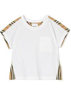 Burberry Kids футболка с отделкой Icon Stripe
