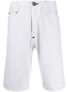 Philipp Plein джинсовые шорты-бермуды