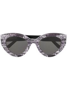 Balenciaga Eyewear солнцезащитные очки-бабочки в оправе с принтом логотипа