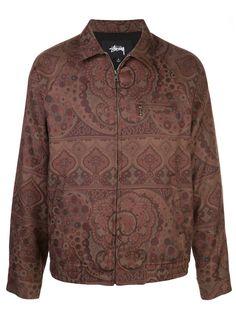 Stussy куртка-рубашка Bryan с принтом пейсли