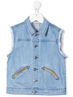 Stella McCartney Kids джинсовая куртка без рукавов