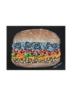 Browns X Sara Shakeel постер Crystal Burger формата А4