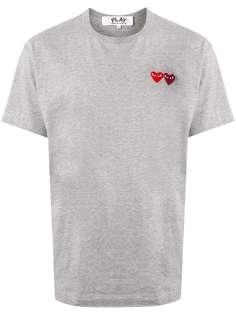 Comme Des Garçons Play футболка с аппликацией