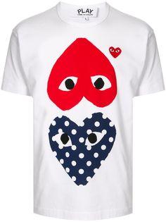 Comme Des Garçons Play футболка с принтом