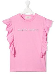 Alberta Ferretti Kids футболка с оборками на рукавах