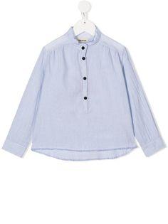 Zadig & Voltaire Kids блузка в полоску с принтом