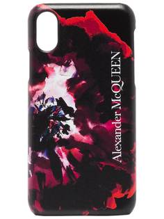 Alexander McQueen чехол для iPhone XS с принтом