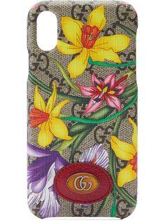Gucci чехол для iPhone X/XS с принтом Flora