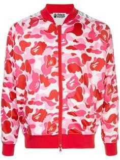BAPE куртка на молнии с камуфляжным принтом