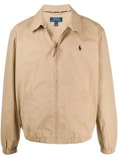 Polo Ralph Lauren куртка-рубашка на молнии с логотипом