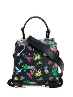 Patrizia Pepe сумка-тоут с цветочной вышивкой