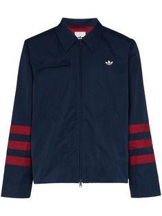 adidas спортивная куртка с полосками на рукавах