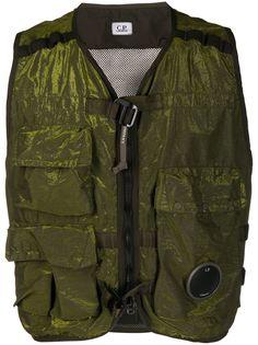 C.P. Company куртка на молнии в стиле милитари без рукавов