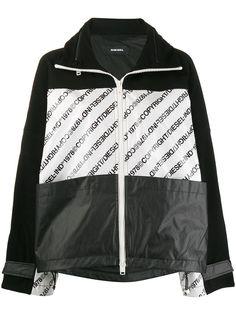 Diesel куртка с капюшоном и логотипом