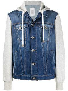 Eleventy джинсовая куртка с капюшоном
