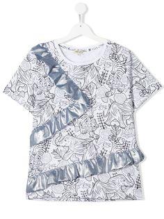 Kenzo Kids футболка с принтом и оборками