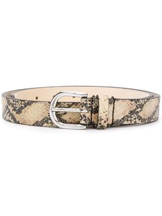 Isabel Marant snakeskin-effect belt