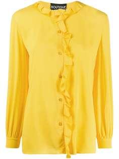 Boutique Moschino блузка с длинными рукавами и оборками