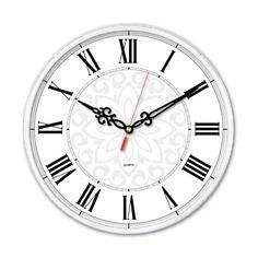 Настенные часы БЮРОКРАТ WallC-R70P, аналоговые, белый