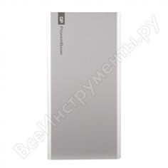 Внешний аккумулятор gp емкостью 10000 мач, серебристый, в алюминиевом корпусе p10mse-2crb1
