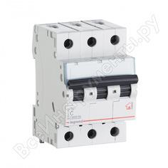 Автоматический выключатель legrand tx3 c10a 3п 6000 404054