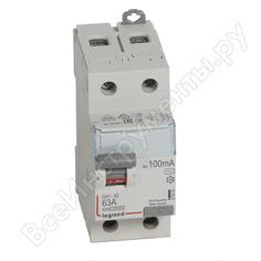 Выключатель дифференциального тока legrand dx3 2п 63а 100ма-ac 411516